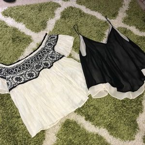 2 Tops included! Both XS. ASTR and American Eagle